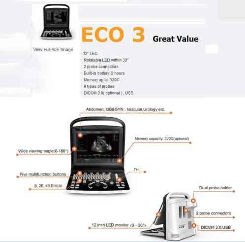 echographe ECO 3 vue de face