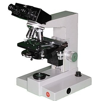 Microscope leitz sm-lux a contraste de phase vue d' ensemble