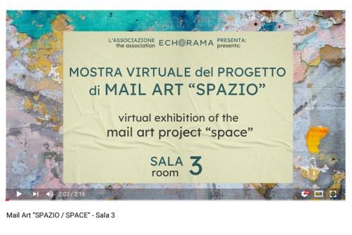 Video esposizione virtuale Mail Art Spazio - Sala 3
