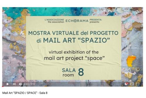 Video esposizione virtuale Mail Art Spazio - Sala 8