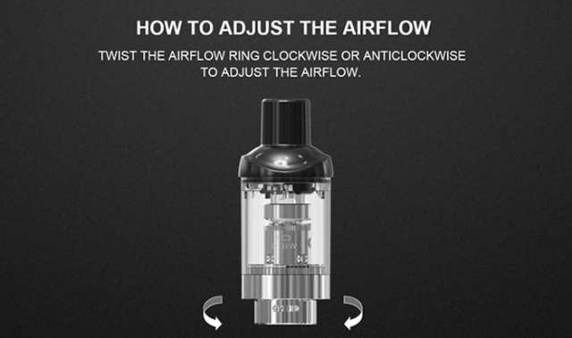 how to change airflow on artery pal stick
