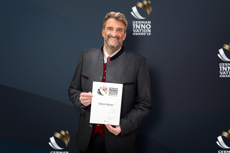 Der Ecken-Diener gewinnt German Innovation Award!
