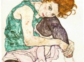Sitting Woman - Egon Schiele