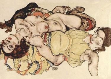 Two Women - Egon Schiele