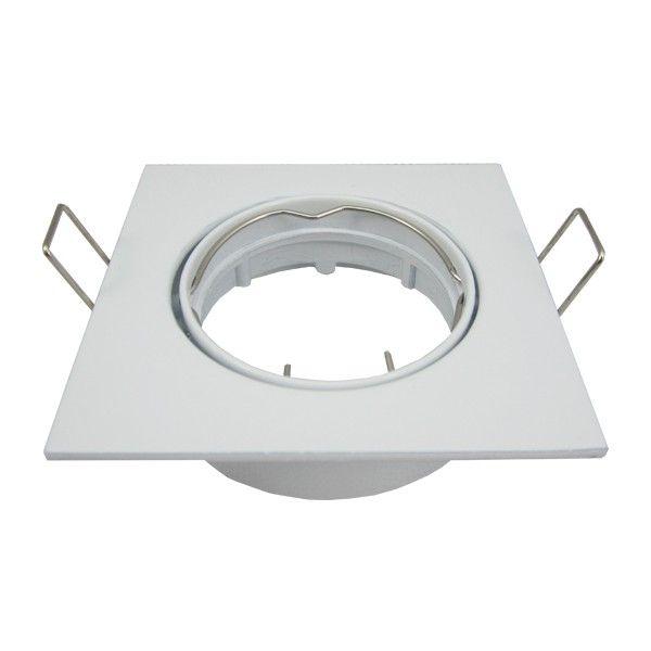 support spot led orientable carre d82 blanc