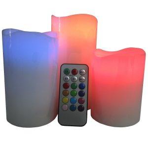 pack-de-3-bougies-cire-led-telecommande