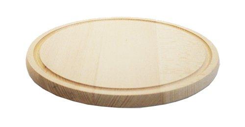 tagliere personalizzato rotondo 28 cm diametro in legno di faggio
