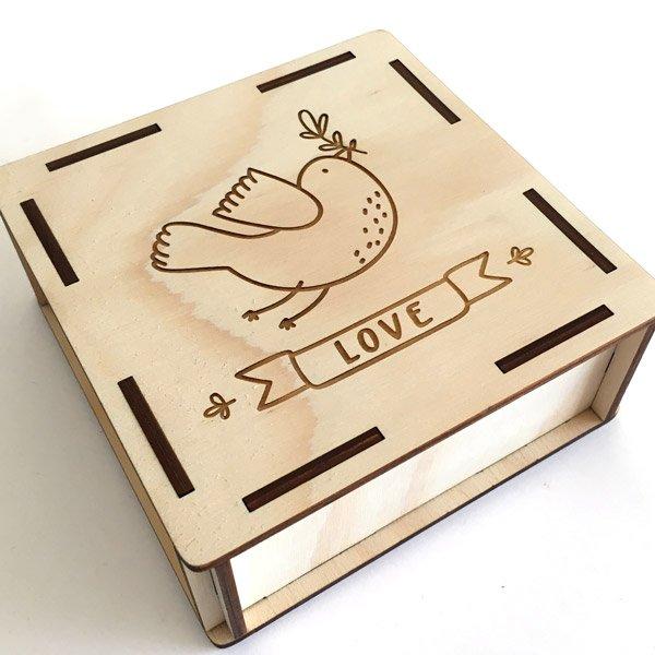scatole legno taglio laser