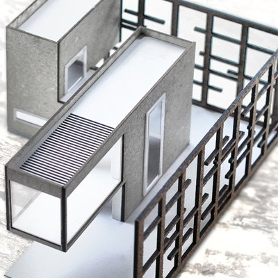 modello architettura taglio laser