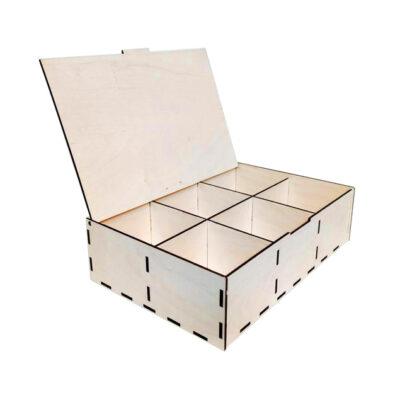 scatola con divisori