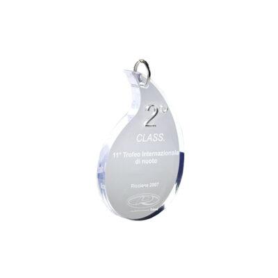 medaglia plexiglas