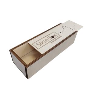 scatolina scorrevole in legno