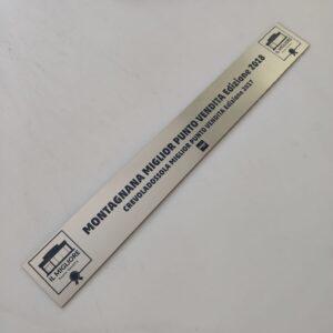 targhetta alluminio abs