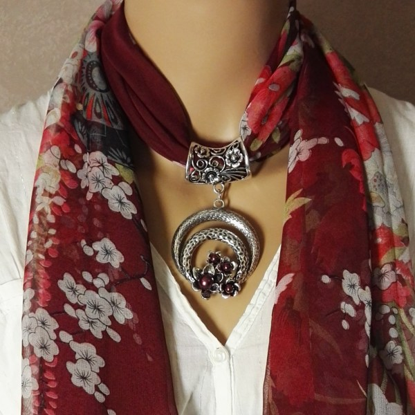 Bijou de foulard Livia