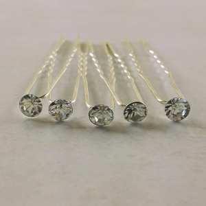 5 Epingles à Cheveux petit strass cristal 5 mm