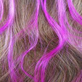 6 extensions mèche de cheveux – Rose fuchsia