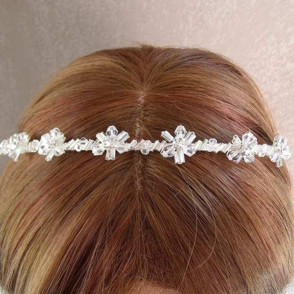 Tiare perles de cristal 857