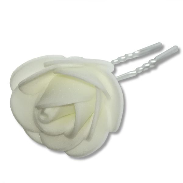 Épingle à Cheveux de Mariée – Fleur Tissus Mousseline