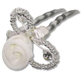 Épingle Cheveux de Mariée Perles Strass et Fleur – Marge