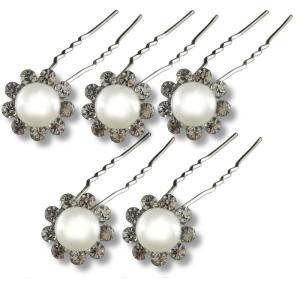 Lot d'Épingles Perles Couleur Pastel et Strass