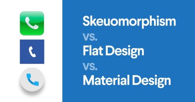 Material vs Flat design