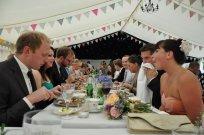 The 'Half Monty' vintage wedding breakfast