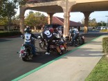 Bikers at Nick's funeral