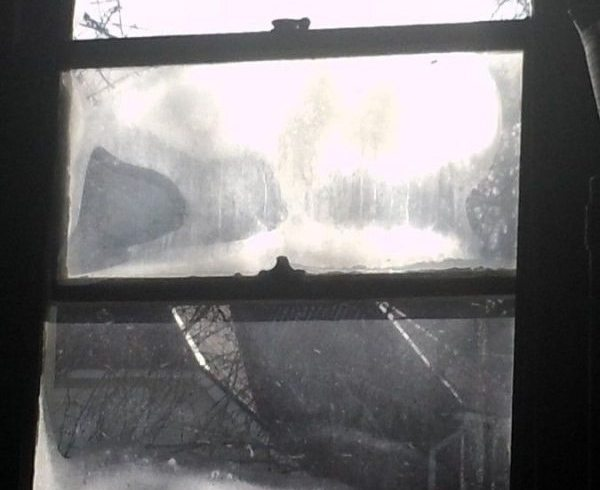 Frosted window in Appalachia