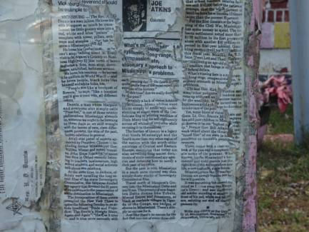 An article Preacher attached to a post in front Margaret's Grocery EclecticEvelyn.com