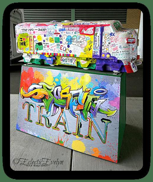 Graffitti Train #WordlessWednesday EclecticEvelyn.com