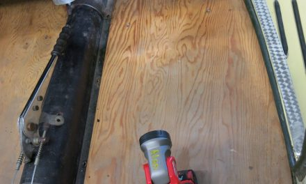 Removing and repainting floorboards
