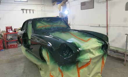 1967 MGB/GT back from paint