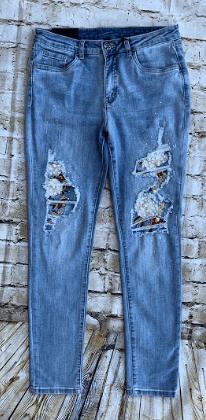 Joseph Ribkoff Lt Blue Vintage Embellished Jeans