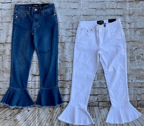 Joseph Ribkoff Flare Jeans White Or Denim Style
