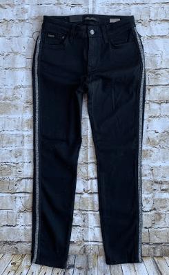 Mavi Adriana Blk/silver Side Strip Jeans