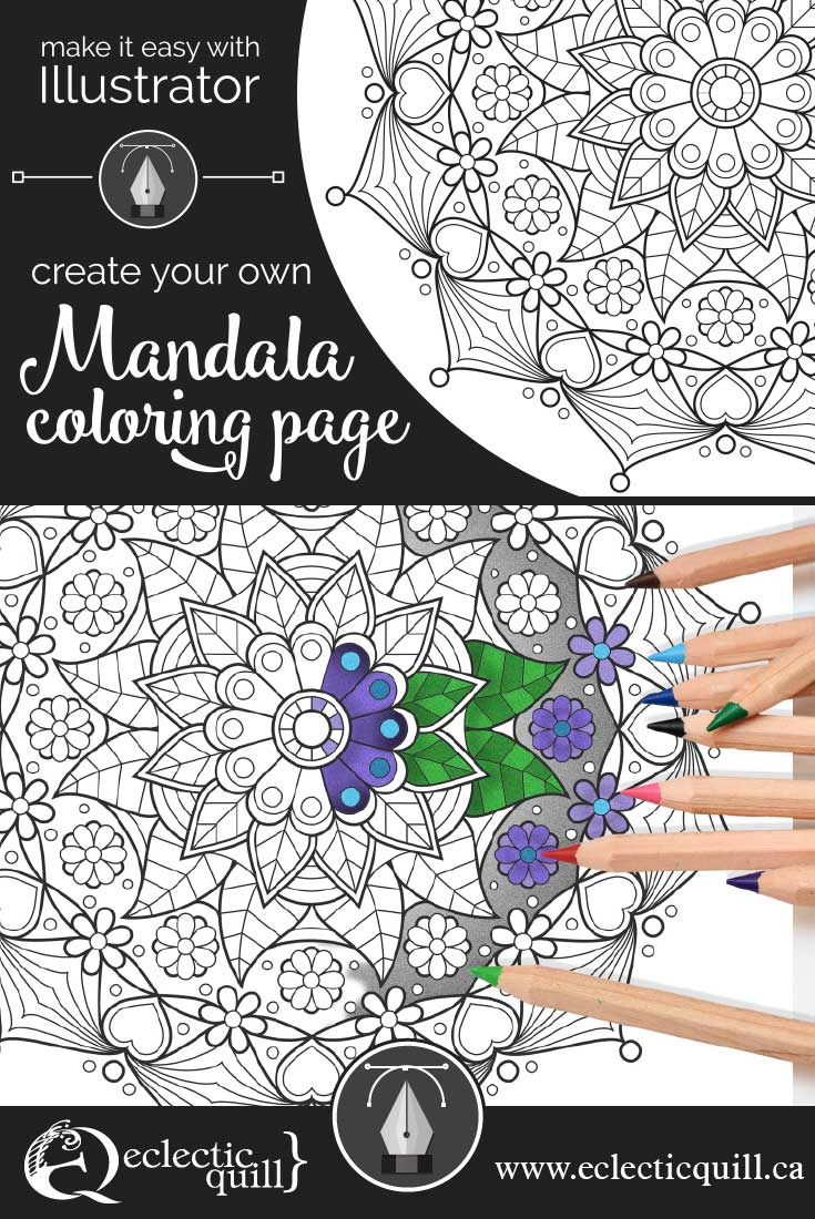 Make It Easy With Illustrator: Create Your Own Mandala Coloring