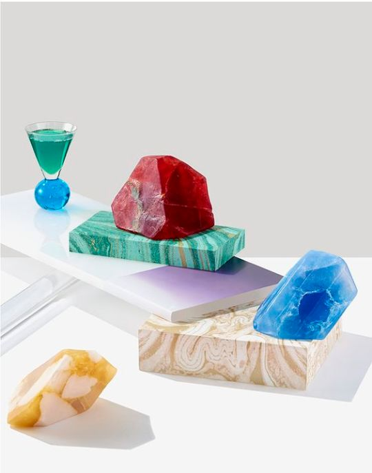 Modern Geology Project-Prop Styling by Clare Piper via Eclectic Trends