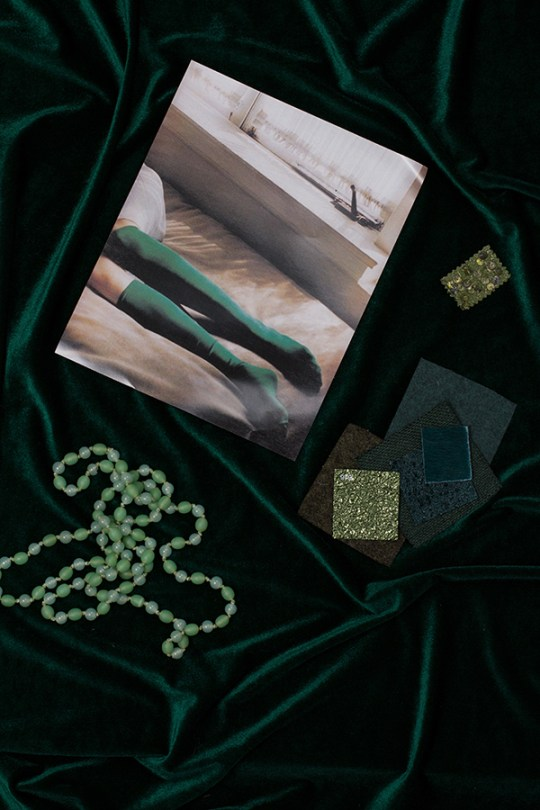The Tone-On-Tone Mood Board-The Green Series via Eclectic Trends