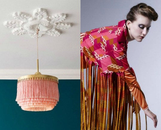When Interior Design Meets Fashion The Fringes Trend via Eclectic Trends