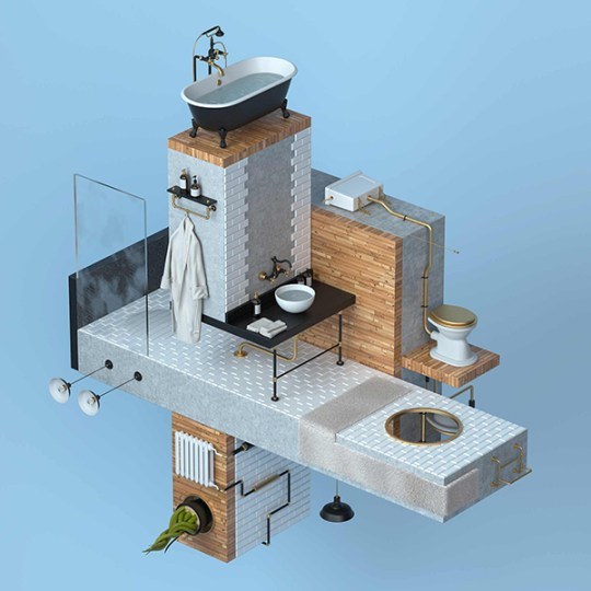 Everyday objects translated into a fascinating 3d RUBIK world by MoliStudio via Eclectic Trends