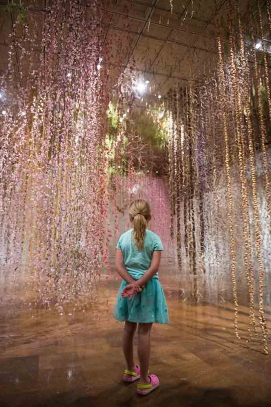 Eclectic Trends | Rebecca Louise Law's suspended dried flowers installation at Toledo Museum