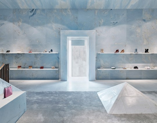 Eclectic Trends | Total Look In Green Blue Marble At Céline's Store in Miami