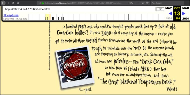 Atlanta Coca-cola Wayback