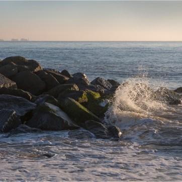 The Needles from Hurst Spit, coastal photography, sea photography, sea spray on rocks, sea scape