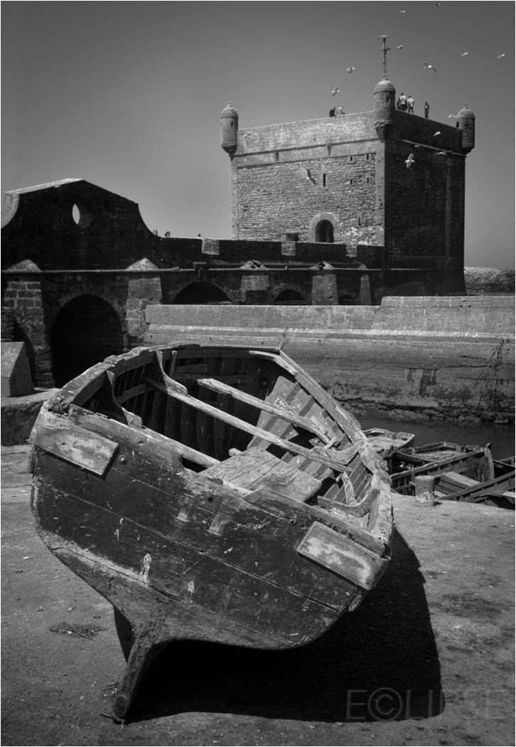 Essaouira, fishing boats, Ramparts Skala de la Ville, Travel photography