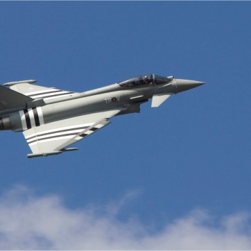 Eurofighter, Eurofighter in blue sky, Military air craft, fighter jet, Farnborough air show, air craft photography