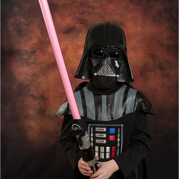 Darth Vader, Light sabre, Star Wars costume, Children's Fancy dress, Star Wars character, Fiery photography backdrop, red light sabre