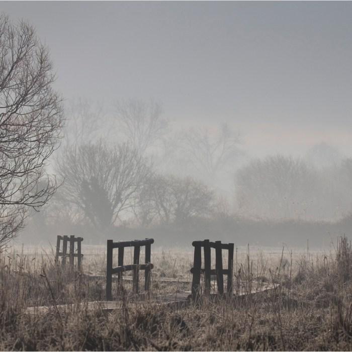 Misty morning on the Test Estuary, Landscape photography, Test Estuary, River Test Estuary, Frosty morning, walkways, boardwalks, gang planks