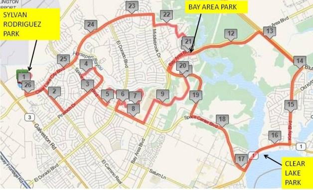 Clear Lake Marathon Trail