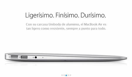 MacBook Air carcasa Unibody de aluminio